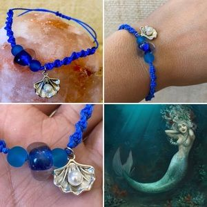 Love the sea 💙 inspired braided bracelet